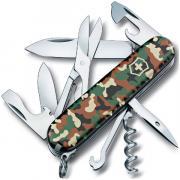 Нож перочинный Victorinox Climber 91 мм 14 функций зелёный камуфляж