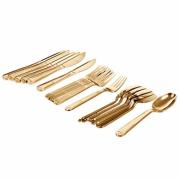 Набор столовых приборов Boyscout 61718 Premium золото (одноразовые)