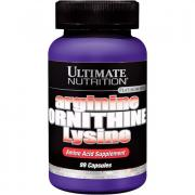 Аминокислоты отдельные Ultimate Nutrition, Arginine Ornithine Lysine (АргининОрнитинЛизин), 100 капсул
