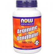 Now Arginine 500 mg & Ornithine 250 mg 100 капс.