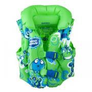 Жилет надувной MadWave Mad Bubbles, для детей 3–6 лет, цвет зеленый