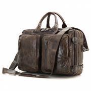 Сумка-рюкзак мужская кожаная Кошелькофф 7014BN коричневая