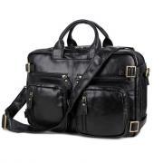 Сумка-рюкзак мужская кожаная Кошелькофф 7026BK черная