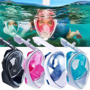 Подводная полнолицевая маска для плавания (снорклинга) FreeBreath