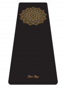 """Каучуковый коврик для йоги """"Golden Sun"""" Non Slip, 185x68x0,4 см."""