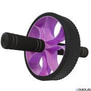 Hawk Ролик гимнастический Широкий (фиолетовый) (d-17.5 см с неопреновыми ручками) B34468