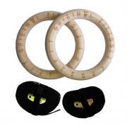 Кольца гимнастические Original Fit.Tools FT-CROSSRINGS 23,5 см