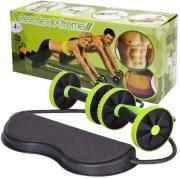 Товары для фитнеса, йоги и художественной гимнастики Гимнастические роликами с эспандерами тренажер для пресса