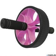 Hawk Ролик гимнастический Широкий (розовый) (d-17.5 см с неопреновыми ручками) B34467