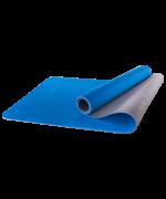 Коврик для йоги StarFit FM-201, TPE, синий/серый