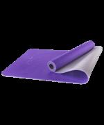 Коврик для йоги StarFit FM-201, TPE, фиолетовый/серый