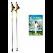 Палки для скандинавской ходьбы Finpole Breeze 60% Carbon + книга о ходьбе Finpole Finpole