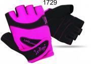 Перчатки атлетические женские INDIGO SB-16-1729 (кожа, лайкра)