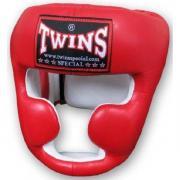 Шлем боксерский Twins (кожа) (красный) размер XL HGL-6-red-XL