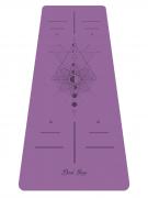 """Каучуковый коврик для йоги """"Lunar Cycle"""" Non Slip (Devi Yoga, Дэви Йога), 185x68x0,4 см."""