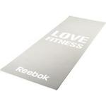 Коврик для фитнеса Reebok RAMT-11024GRL (мат) тонкий Love (серый)