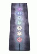 Каучуковый коврик для йоги «Chakras» (Egoyoga, Эгойога), 183х66х0,3 см.