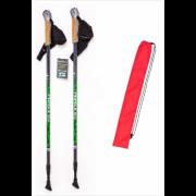 Палки для скандинавской ходьбы Finpole NOVA 30% Carbon серо-зелёные + чехол для палок Finpole NOVA 30% Carbon