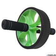 Hawk Ролик гимнастический Широкий (зеленый) (d-17.5 см с неопреновыми ручками) B34469