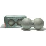 Мяч массажный Original FitTools сдвоенный 16 х 8 см серый