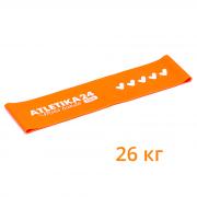 Резинка для фитнеса «Mini Bands PRO» (26 кг), оранжевая (Atletika24, Атлетика24), 30*7,5 см.