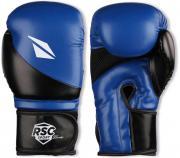 Перчатки боксёрские RSC PU FLEX, BF BX 023, Сине-черный, 10 унций