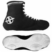 Обувь для бокса и борьбы ( боксерки борцовки ) FIGHT EXPERT ЧЕРНАЯ