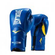Перчатки тренировочные на липучке Everlast Elite Pro 14oz синий