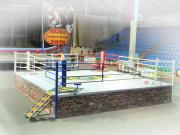 Ринг соревновательный TOTALBOX на помосте h1м, 7х7м размер помоста, 6х6м размер по канатам