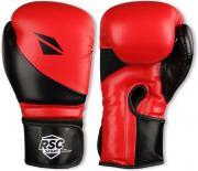 Перчатки боксёрские RSC PU FLEX, BF BX 023, Красно-черный, 12 унций