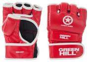Перчатки ММА Green Hill COMBAT SAMBO PU, MMR-0027-CS, Красный, XL