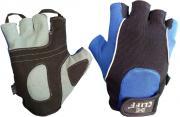 Перчатки вело F с петлями синие р.2XS