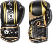 Перчатки боксерские INDIGO PBG-110 черно-золотые