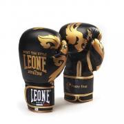 Боксерские перчатки Leone MUAY THAI GN031 черные, 12 унций Leone