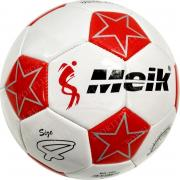 """Мяч футбольный №4 """"Meik-086"""" (белый) 3-слоя, TPU+PVC 3.2, 340-350 гр., машинная сшивка C33394-6"""