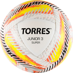 Мяч футбольный Torres Junior-3 Super арт. F319203, р.3, вес 280-310 г, ПУ, 2 сл, 16 п,гиб.сш,бел-крас-жел