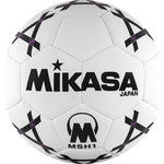 Мяч гандбольный Mikasa MSH 1, синт.кожа, р. 1, бело-черно-фиолетовый