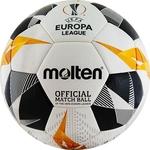 Мяч футбольный Molten F5U5003-G19 р. 5, оф.мяч Лиги Европы 19/20 (UEFA Europa League), FIFA Quality Pro (FIFA Approved), бело-оранжево-черный