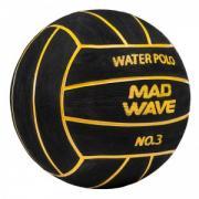 Мяч для водного поло MadWave WP Official #3, 400 г (чёрный)