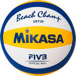 Мяч для пляжного волейбола Mikasa VXT30, размер 5, цвет бел-син-желт