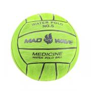 Утяжеленный мяч для водного поло MadWave Medicine № 5, 900 г, цвет зеленый