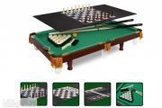 Бильярдный стол Гром 3 фута 4 в 1 с комплектом аксессуаров (пирамида, пул)