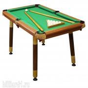 Детский бильярдный стол Салют-Лайт 3,5 фута (пирамида, пул)
