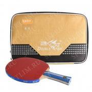 Ракетка для настольного тенниса Double Fish K9 (расцветка ручки: синяя, в комплекте чехол для ракетки)