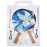 Набор для настольного тенниса, 2 ракетки, 3 шарика, стойки, сетка