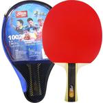 Ракетка для настольного тенниса DHS T1002, 1* звезда, для начинающих игроков, накладка 1,8 мм, кон. ручка