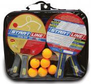 Набор START LINE: 4 Ракетки Level 200, 6 Мячей Club Select. Сетка с креплением, упаковано в сумку на молнии с ручкой.