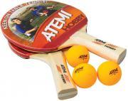 Набор для настольного тенниса Atemi Hobby SM (2ракетки+3мяча*+чехол)