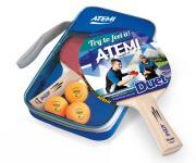 Набор для настольного тенниса Atemi DUET (2ракетки+чехол+3 мяча*)