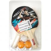 Набор для настольного тенниса 2 ракетки, 3 шарика 271470